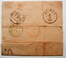 kriegsheim-germany-1850-stampless-folded-letter-to-antwerp-belgium