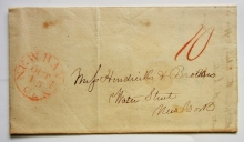new-haven-connecticut-1840-stampless-folded-letter-to-new-york-city