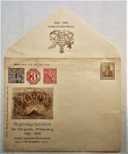 wurttemberg-germany-government-centennial-anniversary-cachet-postal-stationery