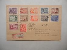 norway - scott-#279-289-postal-history-set-plus-#290-on-cover