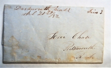 dartmouth-massachusetts-1852-manuscript-postmark-stampless-folded-quaker-letter-to-portsmouth-new-hampshire
