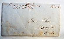 dartmouth-massachusetts-1852-manuscript-postmark-stampless-folded-quaker-letter-to-portsmouth-new-hampshire