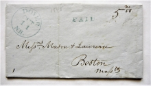 dover-new-hampshire-1845-stampless-folded-letter-to-boston