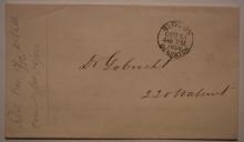 Blood's-Despatch-PA-black-postmark-Type-13-on-1856-postal-history-stampless-folded-letter