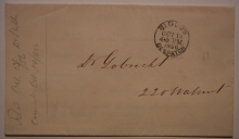 Blood's-Despatch-PA-black-postmark-Type-13-on-1856-postal-history-stampless-folded-letter