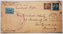 Zeppelin-postal-history-cover-Lakehurst-to-Friedrichshafen-August-1929-around-the-world-flight