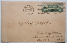Zeppelin-cover-October-23-Miami-to-Chicago-postal-history-flight-with-C-18-stamp