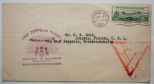Zeppelin-cover-October-2-New-York-first-day-cover-Friedrichhafen-to-Chicago-via-Rio-de-Janeiro-postal-history-flight-with-C-18-stamp