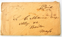 quarryville-connecticut-manuscript-cancel-1850s-stampless-postal-history-cover-to-boston-dpo