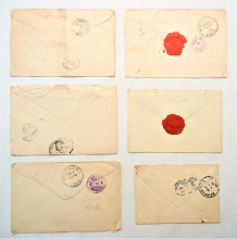 Japan-lot-of-15-1800s-covers-sent-from-Japan-and-Japanese-occupied-formosa-to-united -states