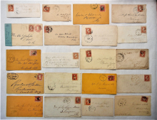 united-states-lot-of-50-Scott-#65-and-varieties-on-cover
