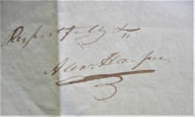 zanesville-ohio-1823-stampless-folded-letter-from-alexander-harper-us-representative