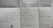 baldwinville-masachusetts-1849-stampless-folded-letter-to-fitzwilliam-new-hampshire