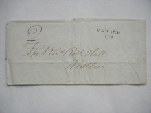newark-great-britain-1821-stampless-folded-letter-to-Reverend-robert-hall-in-westboro