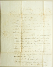 AMBOY NEW JERSEY 1836 STAMPLESS FOLDED LETTER TO SQUAN NEW JERSEY - POSTAL HISTORY