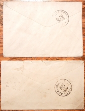 ANGEL ISLAND CALIFORNIA 1904 AND 1905 COVERS TO ADAIRSVILLE GEORGIA - POSTAL-HISTORY