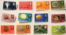 "BARBADOS 1965 ""SEA STAMPS"" SCOTT 267-278 MINT AND UNHINGED - BARBADOS-STAMPS"