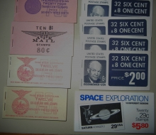 US BOOKLET PANE GROUP -- AIRMAILS, REGULAR ISSUES, COMMEMORATIVES