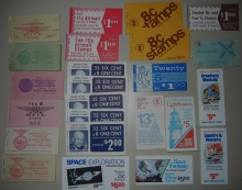STAMPS - US BOOKLET PANE GROUP -- AIRMAILS, REGULAR ISSUES, COMMEMORATIVES