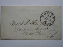 boston.hunt.stampless.cover.postal.history.great.postmark