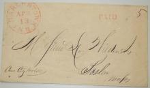 CHARLESTOWN NEW HAMPSHIRE STAMPLESS COVER - POSTAL-HISTORY