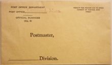 CONCORD MASSACHUSETTS POST OFFICE DEPARTMENT OFFICIAL BUSINESS COVER - POSTAL-HISTORY