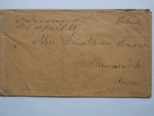 east.livermore.maine.deacon.jonathan.snow.brunswick.stampless.folded.letter.postal.history