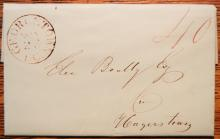 POSTAL HISTORY - GEORGETOWN DC 1839 STAMPLESS FOLDED LETTER
