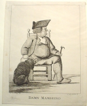 c. 1770 DAMN MAMBRINO ETCHING NO. 4731 - ART. ENGLISH ETCHINGS