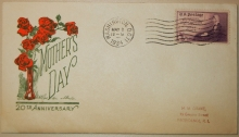 Mother's Day First Day Cover Scott's Catalog #737