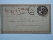 new.york.gregg.reverse.numeral.3.postal.card.postal.history