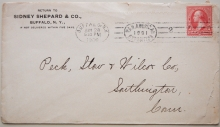 BUFFALO NEW YORK 1900 COVER WITH PAN AMERICAN EXPOSITION POSTMARK - POSTAL-HISTORY