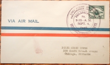 PHILADELPHIA PENNSYLVANIA TO NEW YORK CITY FIRST FLIGHT COVER WITH SCOTT C-4 STAMP - AIRMAIL POSTAL HISTORY