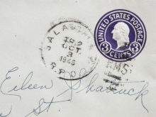 SALA& CHI 1946 RAILROAD POST OFFICE COVER FROM DECATUR INDIANA TO EVERETT MASSACHUSETTS - RAILROAD-POSTAL-HISTORY