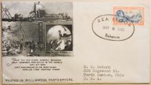 MARINE POSTAL HISTORY - BAHAMAS - 1940 SEA FLOOR OFFICIAL WILLIAMSON PHOTOSPHERE COVER