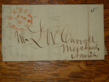 webster.massachusetts.merchants.bank.carroll.stampless.folded.letter.to.norwich.connecticut