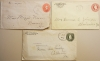 GEORGIA - THREE EARLY POSTAL STATIONERY COVERS - ROME, PLAINVILLE, ADAIRSVILLE - POSTAL-HISTORY