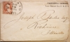 CHICAGO ILLINOIS 1858 COVER WITH SCOTT 26A. LARGE, STRONG FULL DATE POSTMARK. - POSTAL-HISTORY