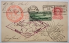 Zeppelin-flight-postal-card-Lakehurst-Friedrichshafen-to-Lakehurst-postal-history-flight-1930-with-C-13-stamp