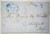 walpole new hampshire postal history stampless folded letter to northfield massachusetts