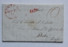 Portsmouth New Hampshire 1830 stampless folded letter to Boston