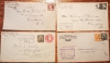 U.S REGISTERED LETTER COVERS (4) 1917, 1930, 1931, 1935 - POSTAL-HISTORY