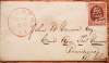 KINGSTON RHODE ISLAND 1852 COVER AND LETTER FROM AMOS WELLS TO JOHN VERNON, PROVIDENCE RI REGARDING HUNTING WITH MUSKETS - POSTAL-HISTORY