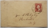 ALBANY NEW YORK 1850S COVER TO ROCHESTER NY. SCOTT #26A STAMP - postal-history