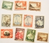 BERMUDA 1935 SILVER JUBILEE ISSUE.  SCOTT 105-114 USED. INCLUDES 109 AND 109A - BERMUDA-STAMPS