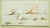 BOSTON MASSACHUSETTS 1847 STAMPLESS FOLDED LETTER TO NEW YORK CITY - POSTAL-HISTORY