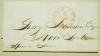 BOSTON MASSACHUSETTS 1847 STAMPLESS FOLDED LETTER TO NEW YORK CITY - POSTAL-HISTORY