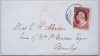 BOSTON MASSACHUSETTS 1850S COVER WITH BROWNISH CARMINE SCOTT #25 STAMP