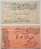 DOVER, EXETER NEW HAMPSHIRE -- 2 USPO REGISTERY RETURN RECEIPTS 1904 AND 1905 - POSTAL-HISTORY