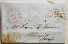 FAIR HAVEN Mas. 1845 STAMPLESS FOLDED LETTER. J.B. MASSE TO LEVI SNOW, HARWICH, MASSACHUSETTS. UNLISTED POSTMARK - POSTAL-HISTORY